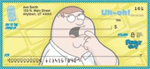 """Family Guy"" Personal Check Designs"