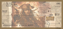 """Pirates of the Caribbean"" Personal Check Designs"