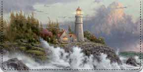 Thomas Kinkade's Lighthouses Inspirational Art Checkbook Cover