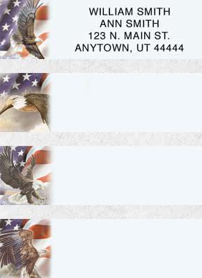 God Bless America Booklet of 150 Address Labels