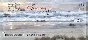 Footprints in the Sand Inspirational Check Designs