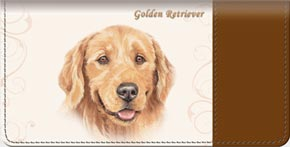 Golden Retriever Dog Checkbook Cover