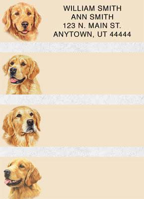 Golden Retriever Address Labels