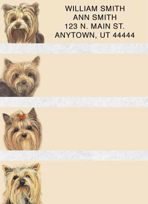 Yorkshire Terrier Address Labels - Yorkies Labels