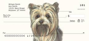 Yorkie Dog Check Designs Side-Tear Checks