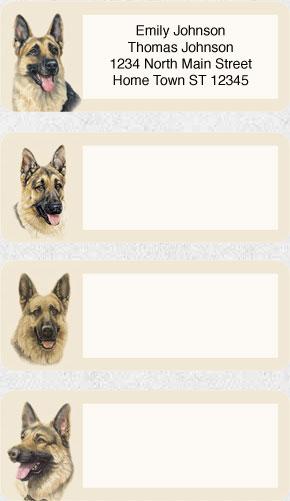 German Shepherd - Address Labels