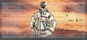 Courage Under Fire Firefighter Check Designs