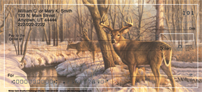 Winter Calm Deer Check Designs