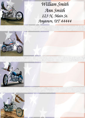 Motorcycle Address Labels