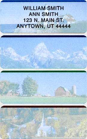 Scenery Address Labels
