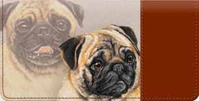 Pug Checkbook Cover