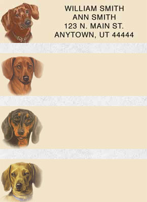 Dachshund Address Labels