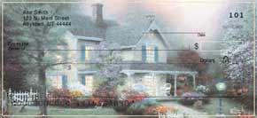 Thomas Kinkade's Comforts of Home Personal Check Designs Top-Tear Checks