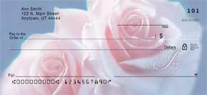 Rose Petal Blessings Personal Check Designs