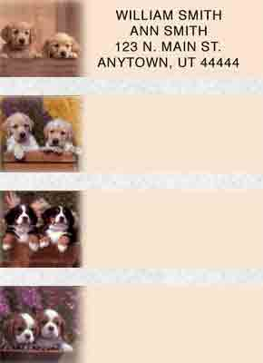 Puppy Pals Booklet of 150 Address Labels