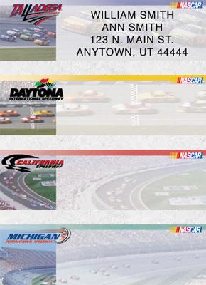 NASCAR Racetracks Booklet of 150 Address Labels