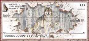 Call of the Wild Wolf Personal Check Designs