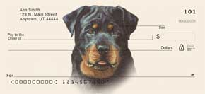 Rottweiler Personal Check Designs