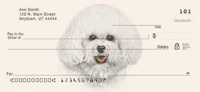 Bichon Frise Dog Personal Checks Top-Tear Checks