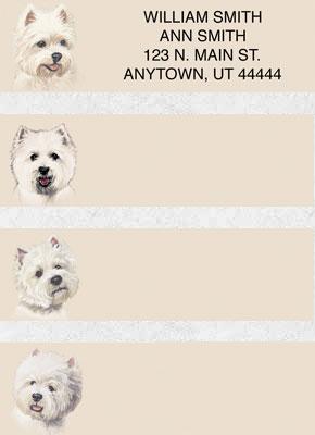 West Highland Terrier Address Labels - Westie Labels
