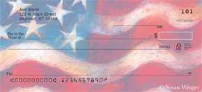 Waves of Freedom Personal Check Designs
