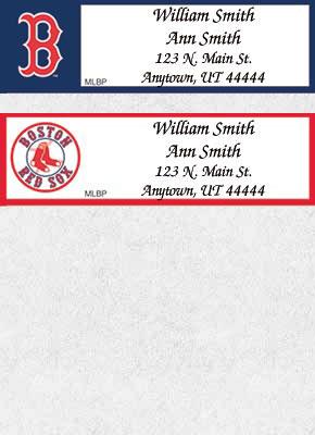 MLB Teams Address Labels