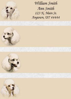 Poodle Address Labels
