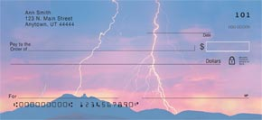 Lightning Strikes Personal Check Designs