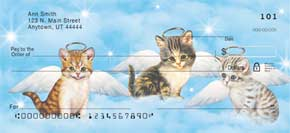 Purr-fect Angels Personal Check Designs
