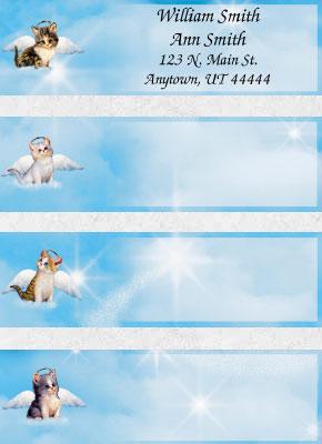 Purr-fect Angels Booklet of 150 Address Labels