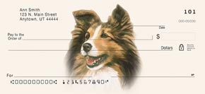 Sheltie Personal Check Designs