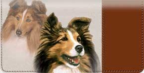 Shetland Sheepdog Checkbook Cover - Sheltie Covers