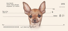 Chihuahua Paintings Personal Checks