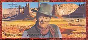 John Wayne: An American Legend Personal Check Designs