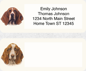 Basset HoundAddress Labels