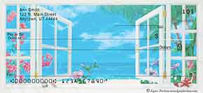 Ocean Breezes Personal Check Designs