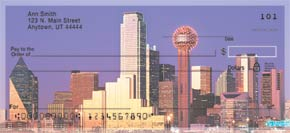 City Skylines - Dallas Personal Check Designs