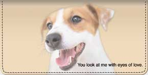 Faithful Friends - Jack Russell Terrier Checkbook Cover