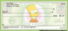 Simpsons Personal Checks