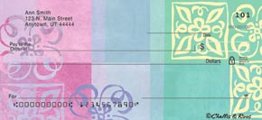 The bradford exchange checks order personal checks party for Cool check designs