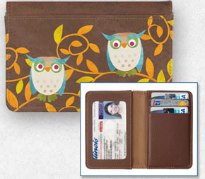 Challis & Roos Awesome Owls Debit Card Holder