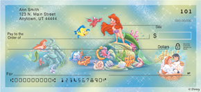 Disney Little Mermaid Checks
