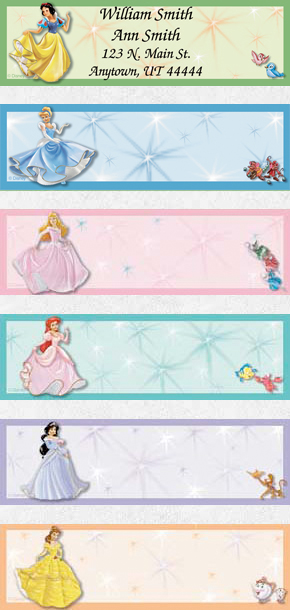 Disney Princess Stories Booklet of 150 Address Labels