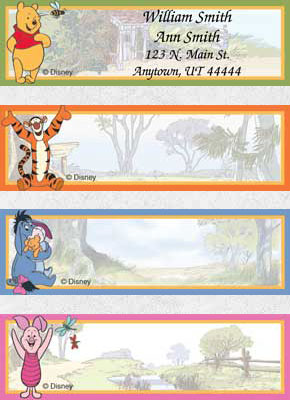 Adventures of Pooh Booklet of 150 Address Labels
