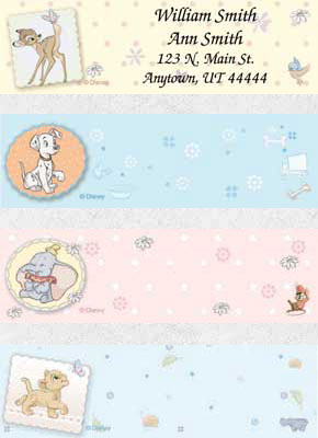 Disney Magical Beginnings Booklet of 150 Address Labels