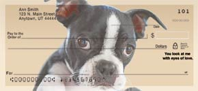 Faithful Friends - Boston Terrier Personal Check Designs