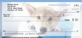 Rescued is My Breed of Choice Personal Check Designs