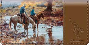 Cowboy Round Up Checkbook Cover