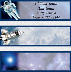 Space Discoveries Booklet of 150 Address Labels