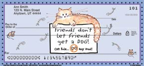 Cats Rule Personal Check Designs